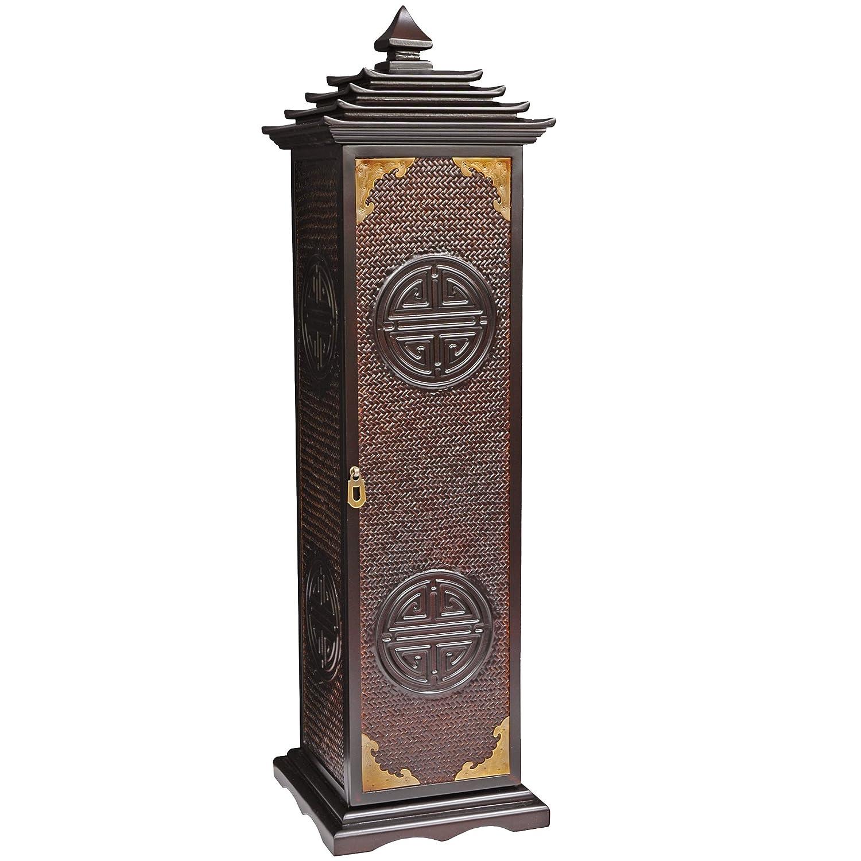 Cd Dvd Rack Part - 16: Amazon.com: Oriental Furniture Rosewood Pagoda CD/DVD Stand: Kitchen U0026  Dining