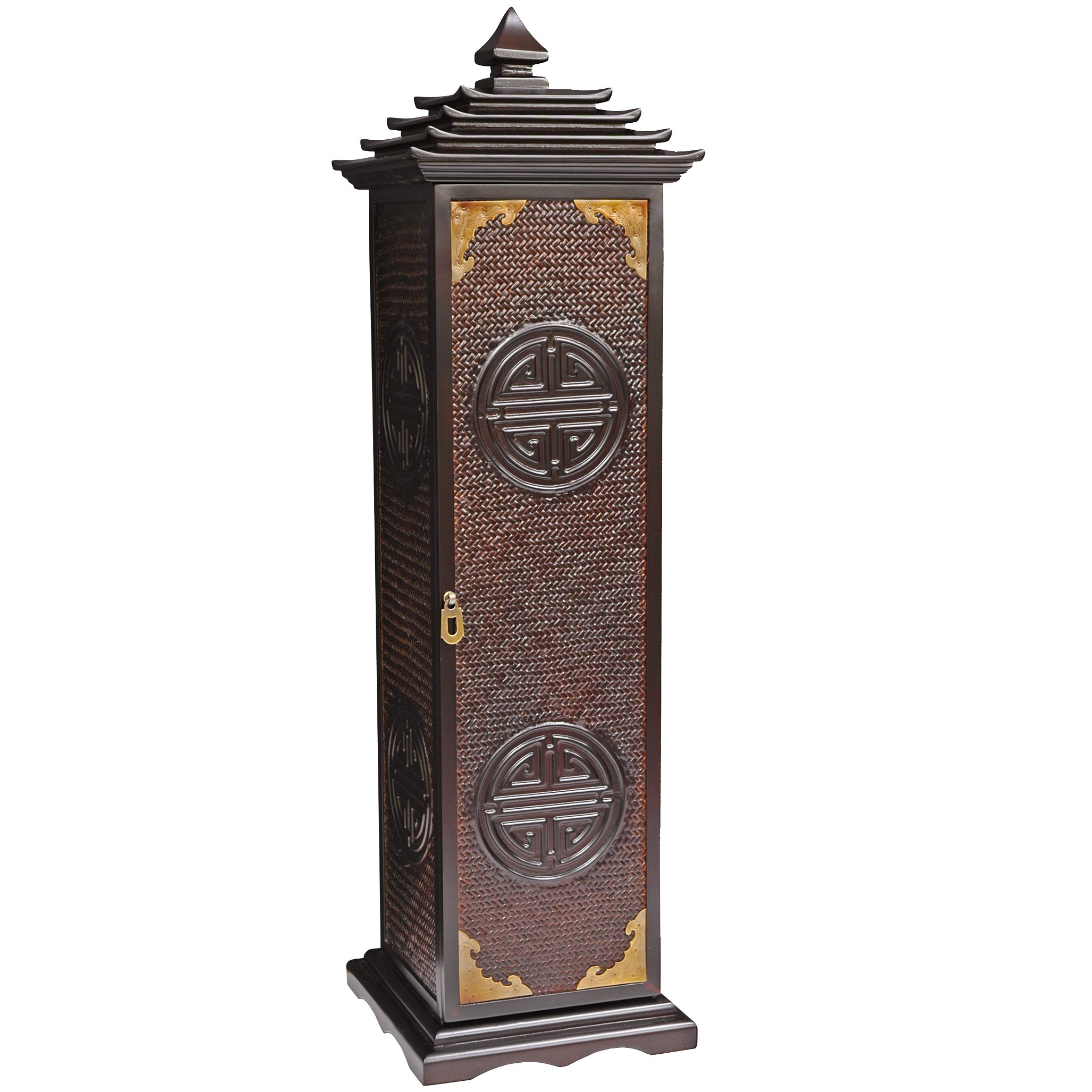 Oriental Furniture Rosewood Pagoda CD/DVD Stand by ORIENTAL Furniture