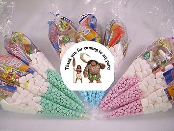 20 bolsas de fiesta para niños con diseño de Moana de Disney ...