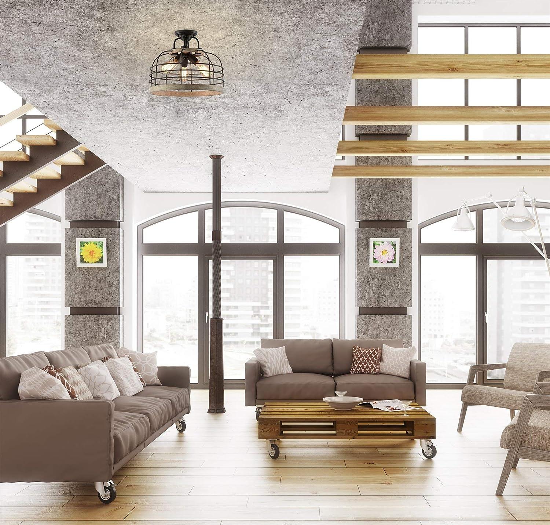 Metal Lattice Shade Black Finish Kira Home Warwick 16 Modern Rustic 3-Light Chandelier Mission Wood Style Frame