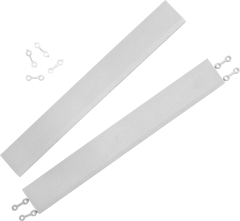 andiamo Eckleiste zur Kunststofffliese Bodenfliese Gartenfliese L/änge schwarz 2 Eckleisten 43 cm Set