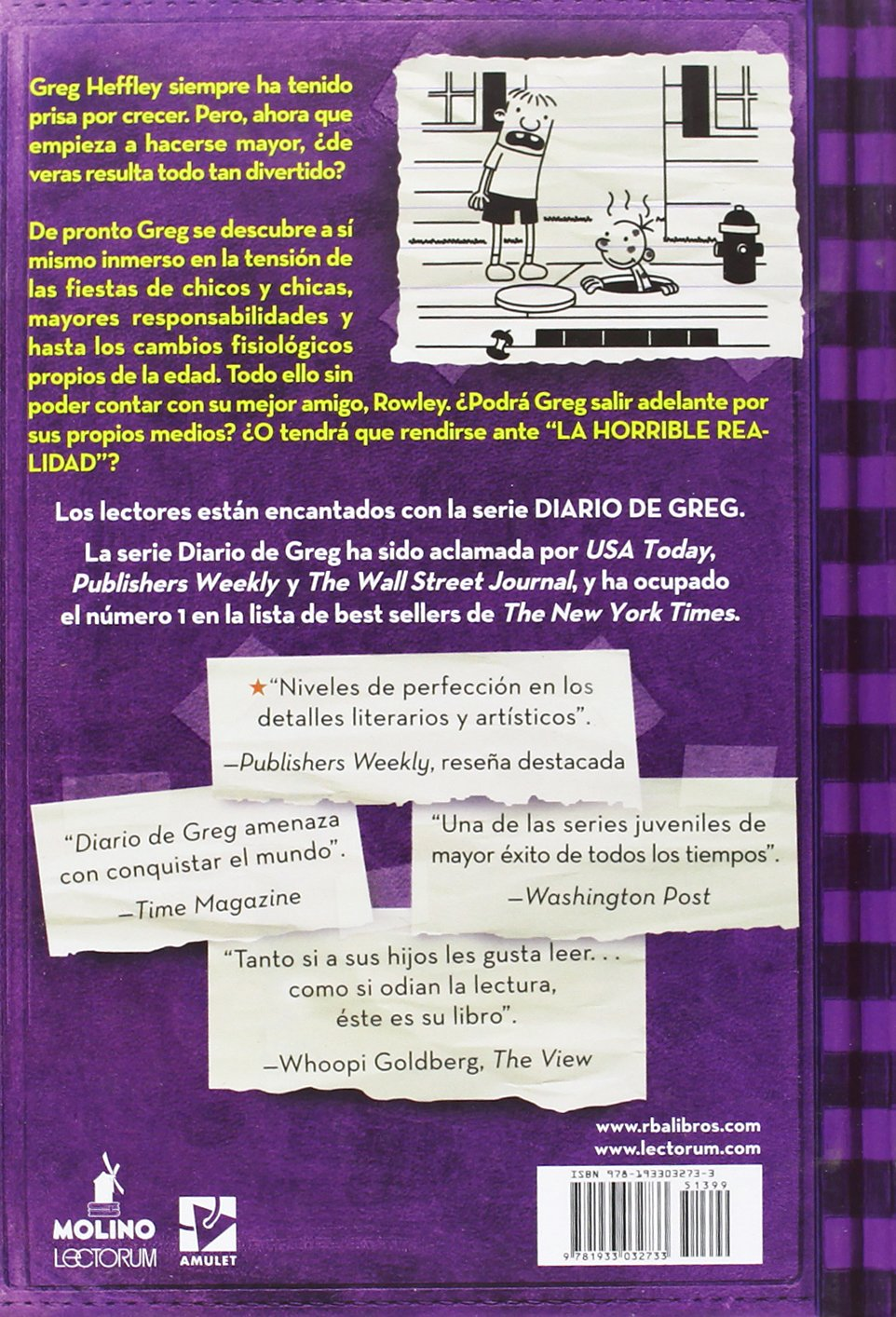 Diario de Greg 5. La horrible realidad (Diary of a Wimpy Kid) (Spanish Edition): Jeff Kinny, Lectorum Publications: 9781933032733: Amazon.com: Books
