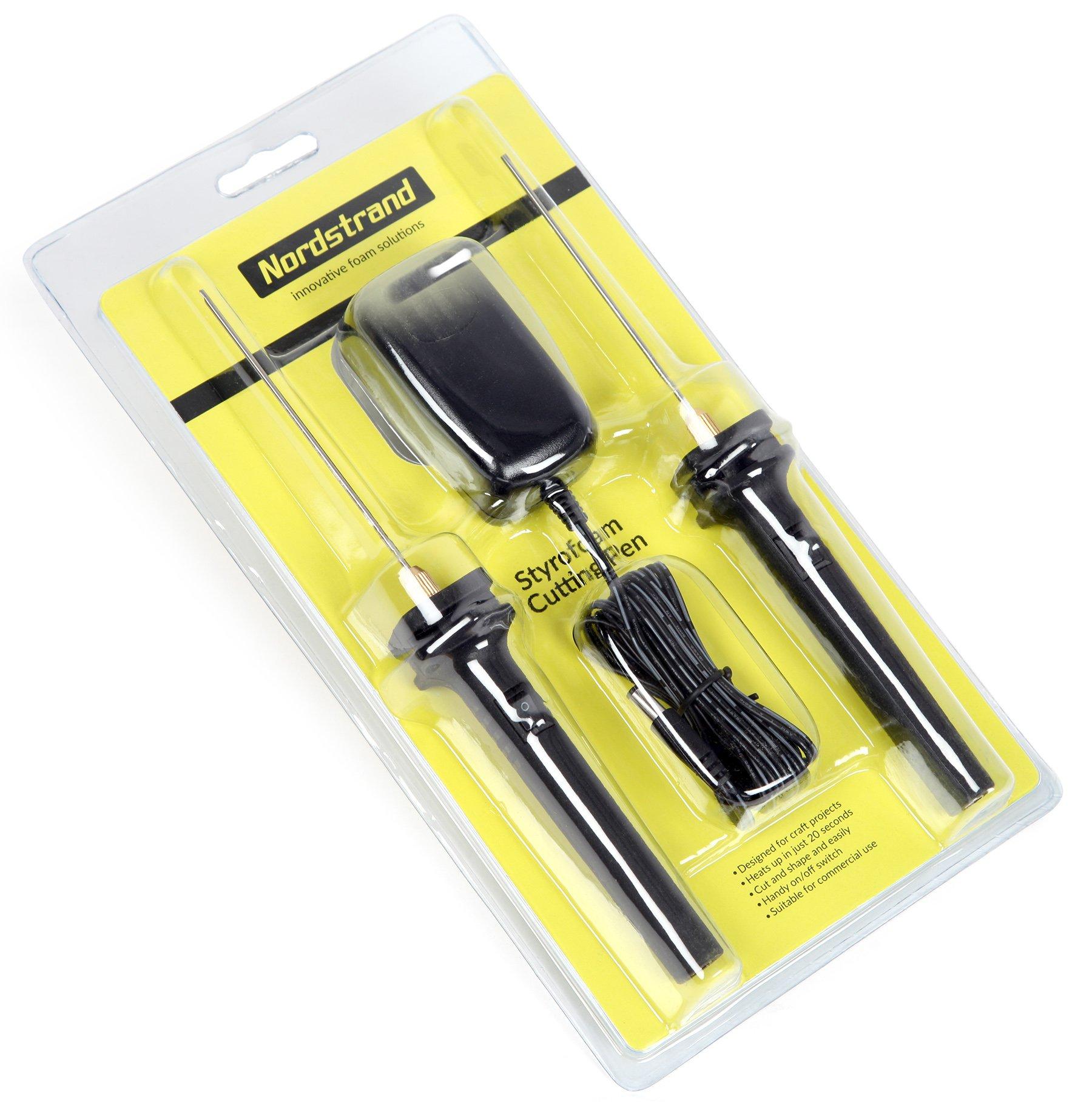 Nordstrand Electric Styrofoam Cutter - Hot Wire Styro Foam Cutting Pen Knife Tool - 2 x Pen Cutters