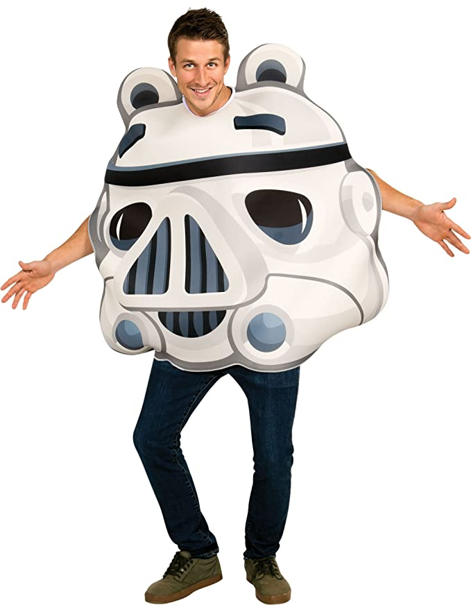 Amazon.com: Angry Birds Star Wars Stormtrooper Adult Costume, White ...
