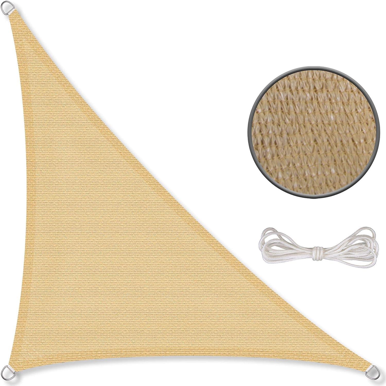 CelinaSun Tenda Parasole a Vela Protezione Solare Giardino Balcone HDPE polietilene Traspirante Triangolo 4,6 x 4,6 x 4,6 m Terracotta