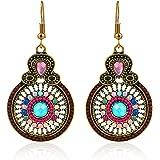 Crunchy Fashion Jewellery Gold Plated Stylish Drop Earrings for Girls Fancy Party Wear Earrings for Women