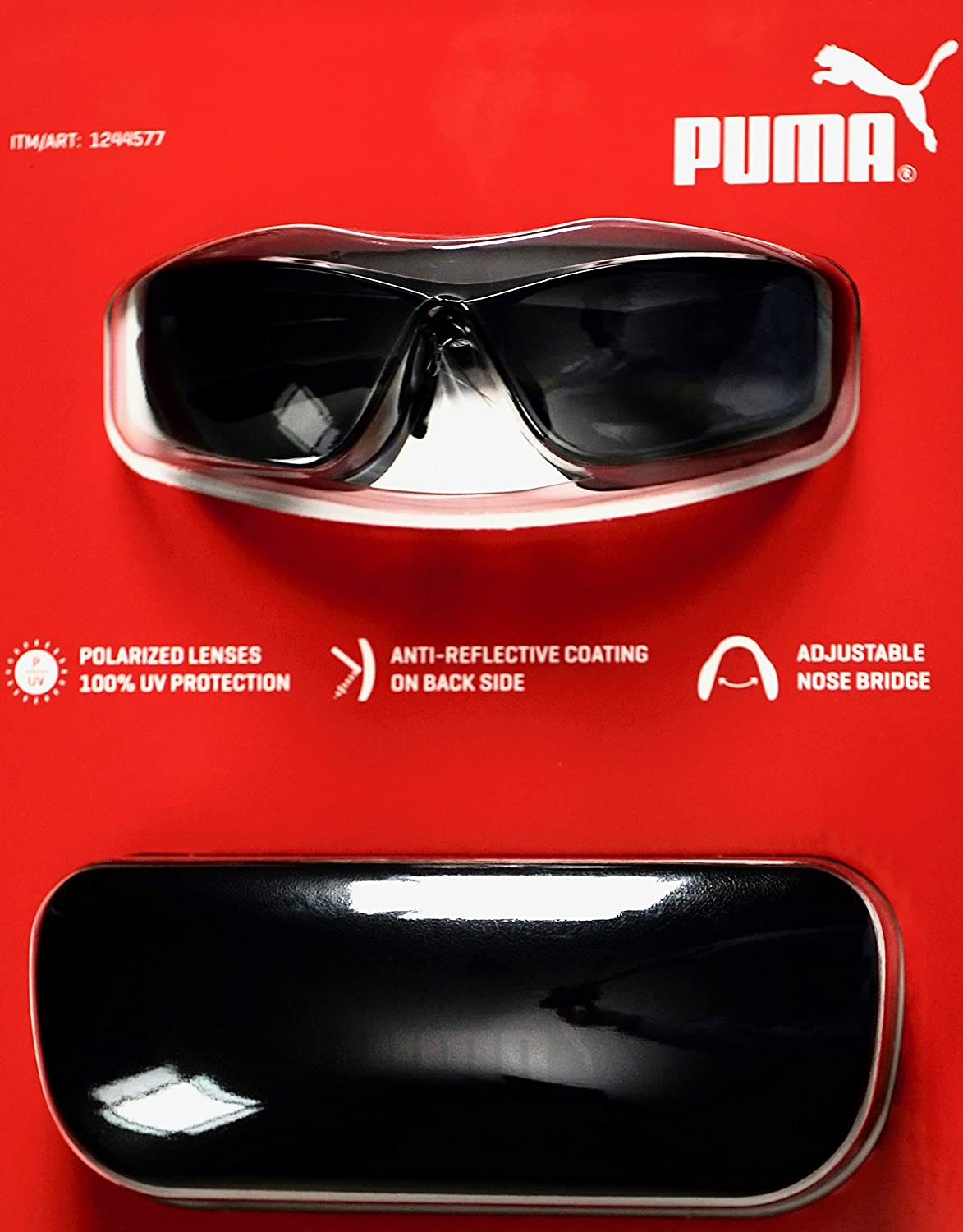 976e218f3e1 Amazon.com  PUMA Men s Polarized Sunglasses Anti-Reflective with Case   Clothing