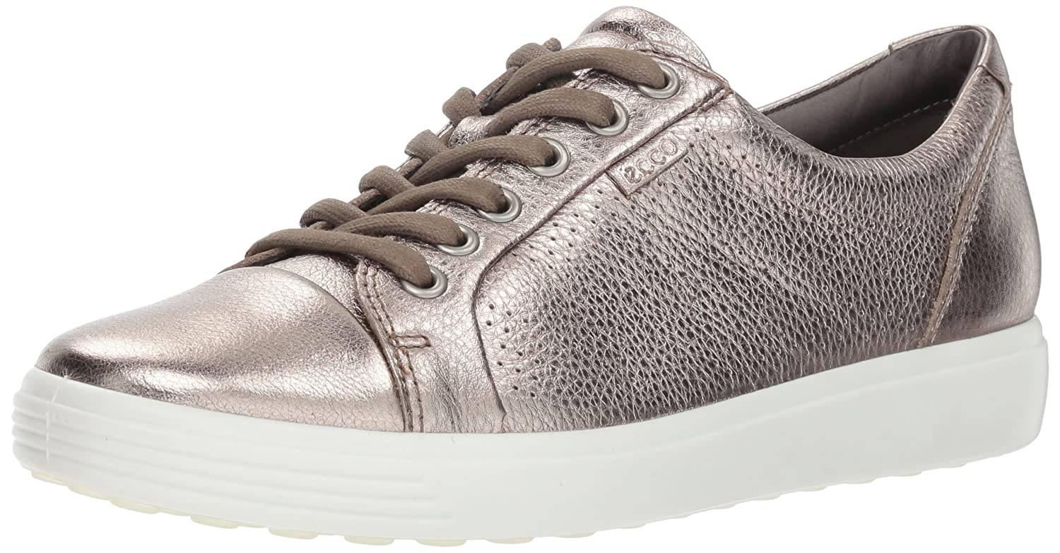 Warm Grey Perforated ECCO Women's Women's Soft Sneaker