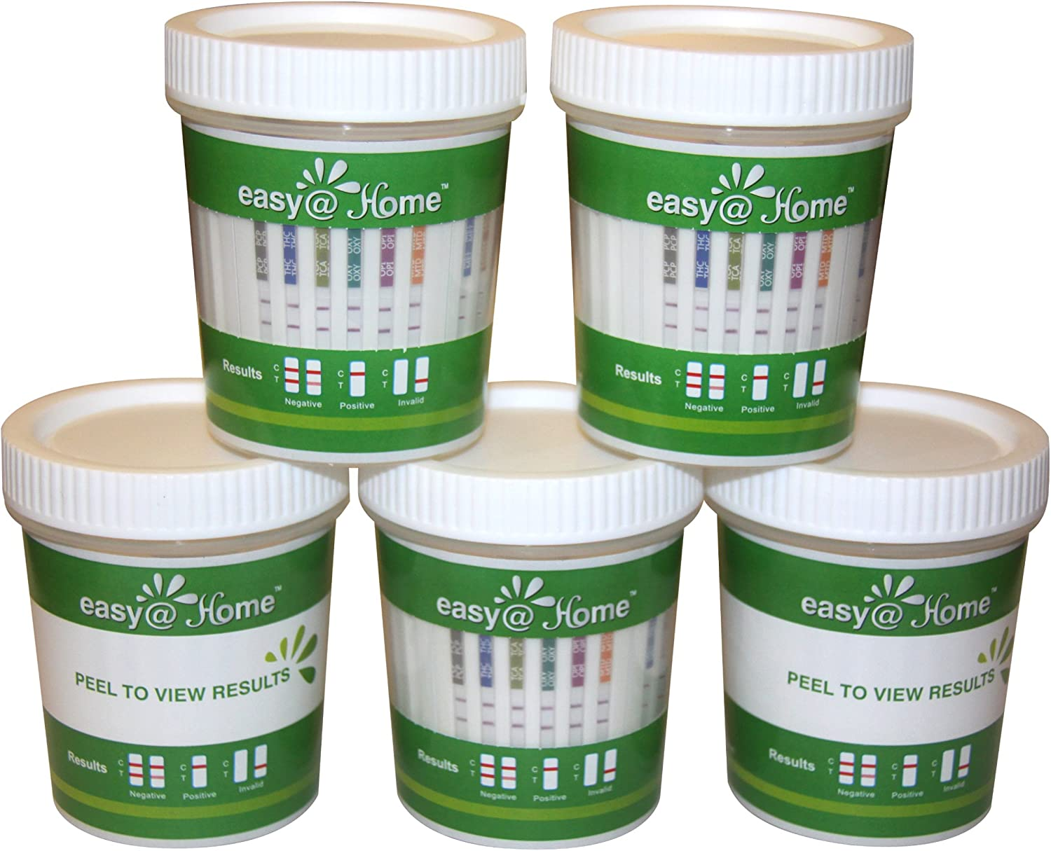 10 Pack Easy@Home 12 Panel Drug Test Cup Kit with Temperature Strip - Testing BUP, MOP(OPI 300 - High Sensitive), THC,COC,MET,OXY,AMP,BAR,BZO,MTD,MDMA,PCP - Instant Urine Test-#ECDOA-6125B