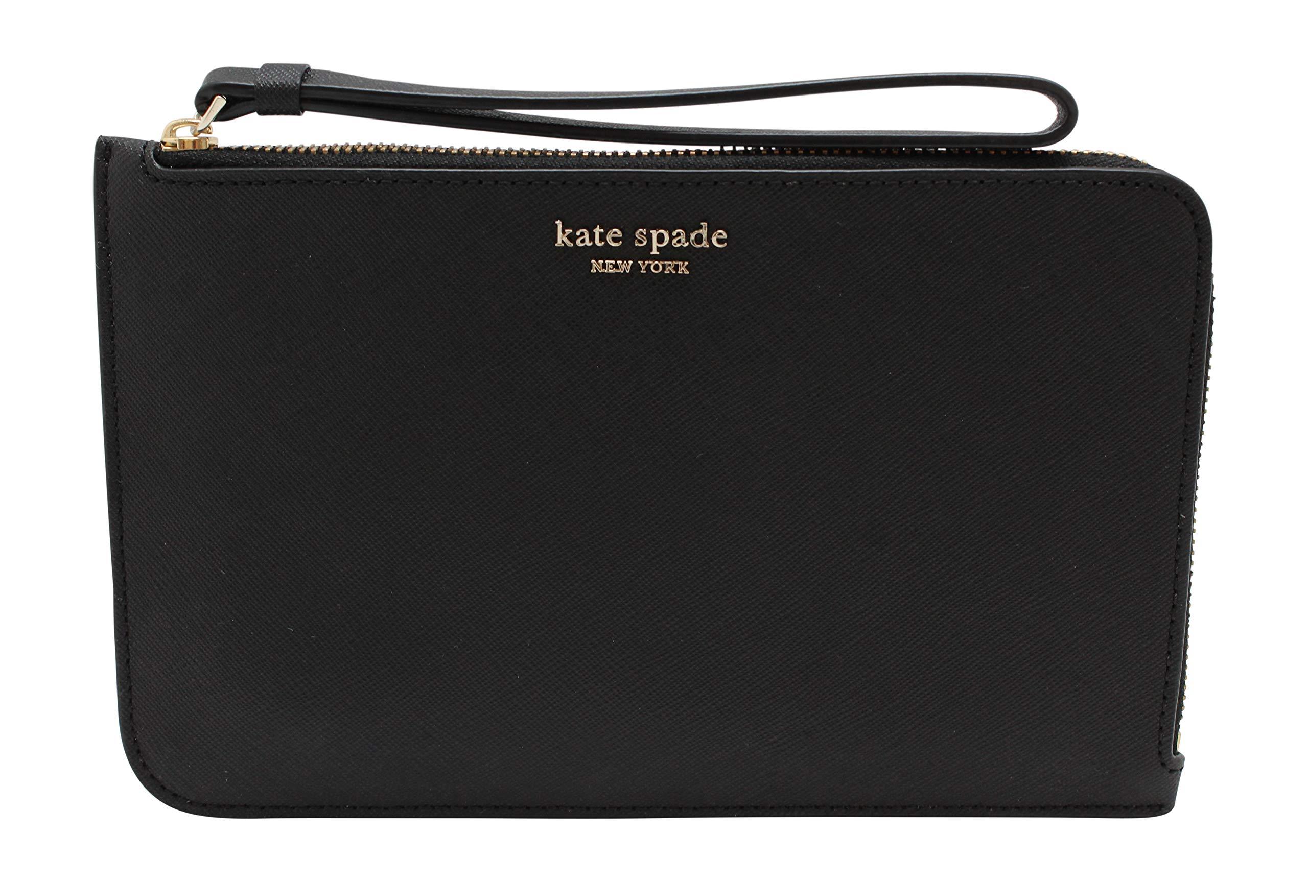 Kate Spade New York Cameron Medium L-Zip Leather Wristlet Pouch Wallet