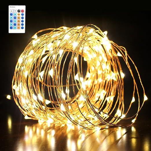 7 opinioni per Luci Stringa Luminosa Catena Luminosa con 10 metri 100 LED Catena Lampada