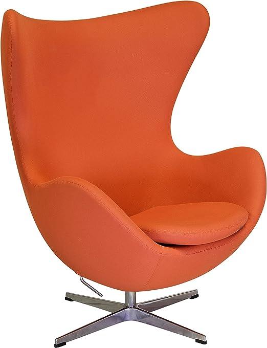 Egg Chair Arne Jacobsen Kopie.Amazon Com Arne Jacobsen Inspired Egg Swivel Chair In Orange