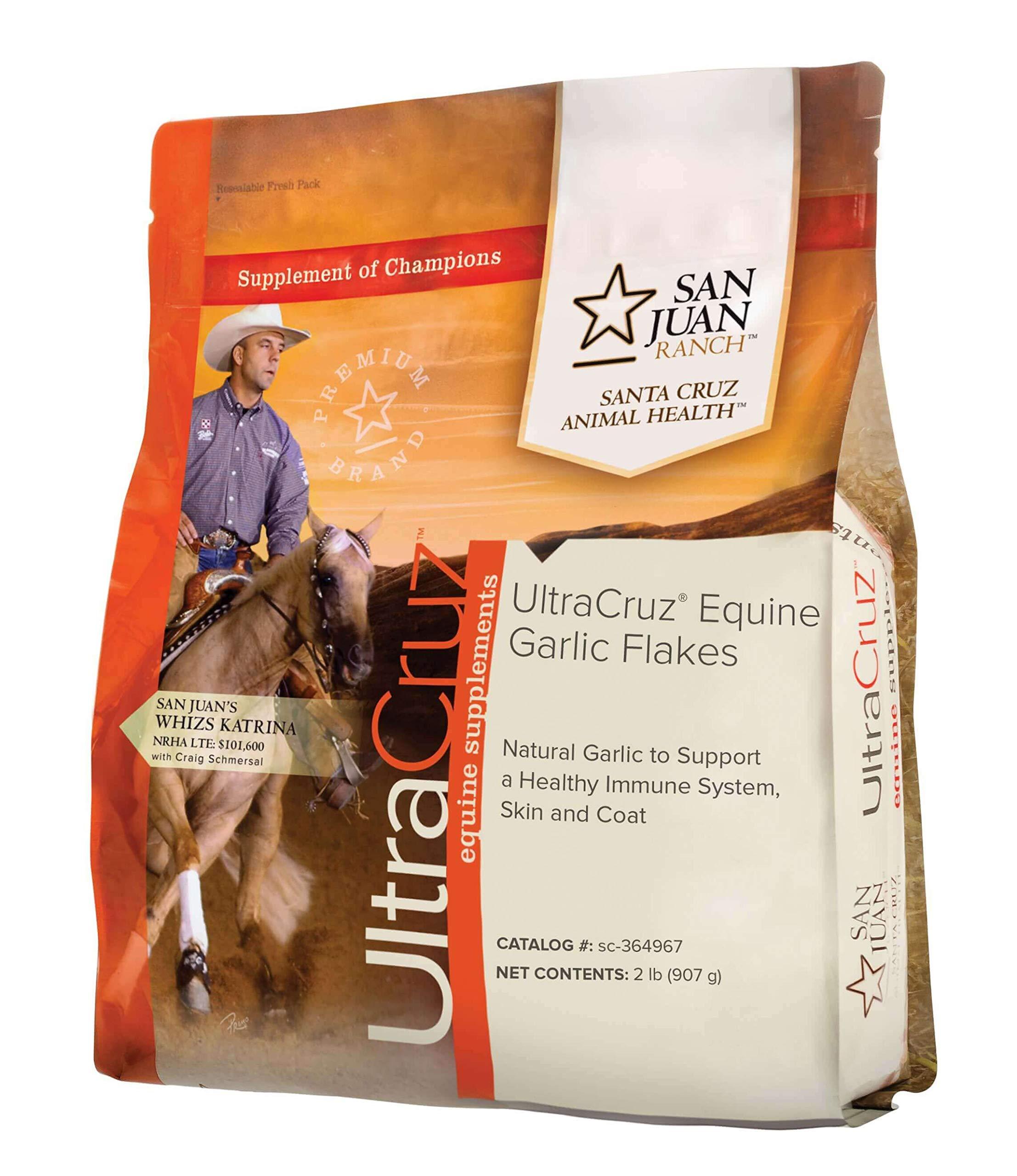 UltraCruz Equine Garlic Flakes Supplement for Horses, 2 lb (90 Day Supply) by UltraCruz