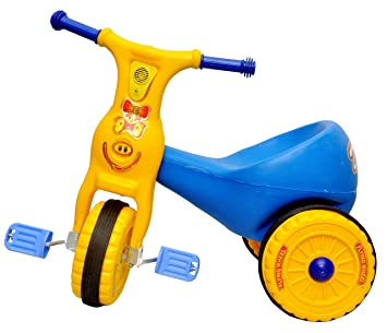 Toyshine Ducky Baby Tricycle Ride-on Bicycle, ABS Plastic, Unbreakable, Blue, 1-2 Years
