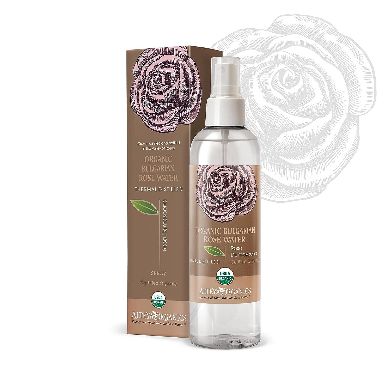 Alteya Organics Bulgarian Rose Water Toner - USDA Organic, Award-Winning, Organic Toner Mist, 8.5 oz/250ml