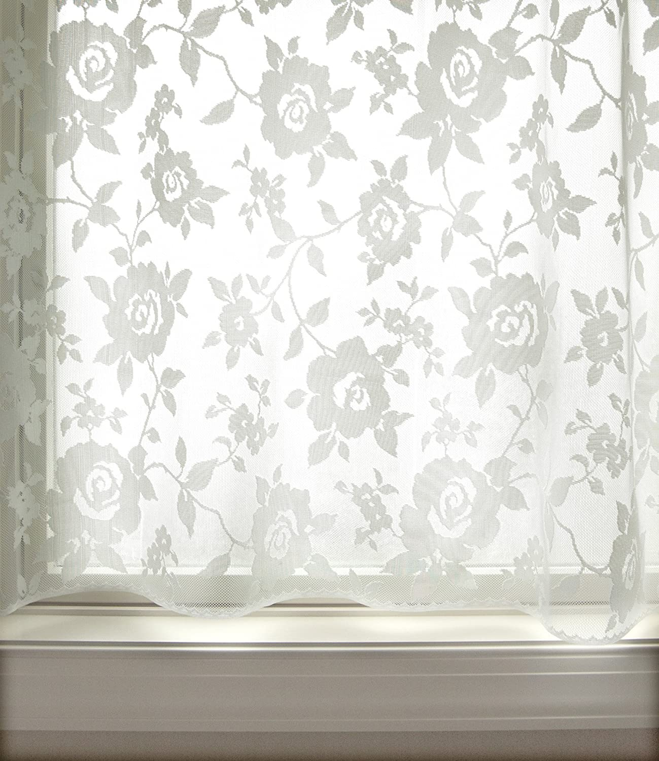 60x84 Heritage Lace Ashby Rose Panel White