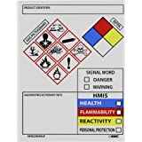 NMC GHS2264ALV GHS Secondary Container Label - [Roll of 250] 3 in. x 4 in. Pressure Sensitive Vinyl GHS Label