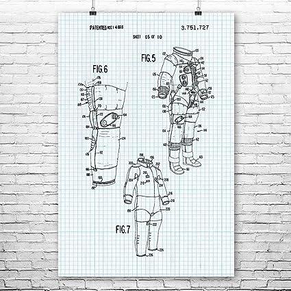 Amazon Apollo Astronaut Space Suit Inner Lining Poster Art