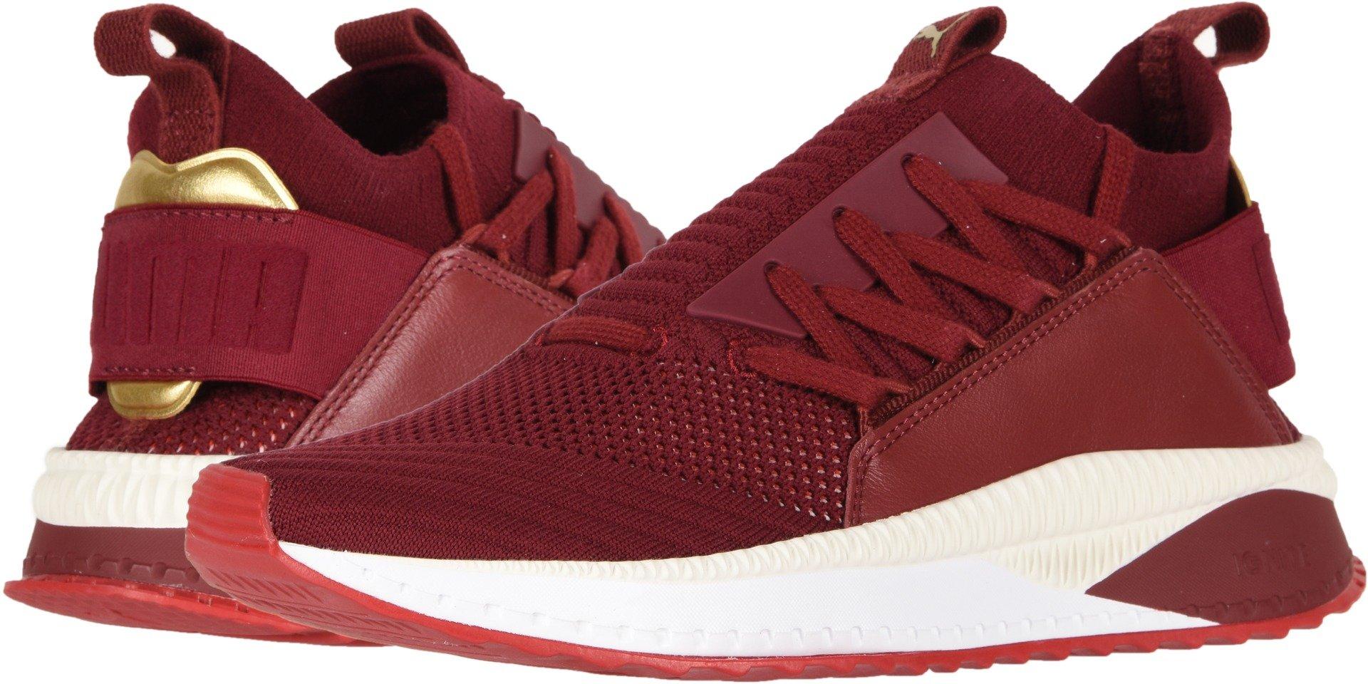 PUMA Women's Tsugi Jun Sneaker, Pomegranate-Ribbon Red White, 8.5 M US