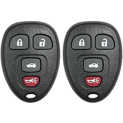 Keyless2Go New Keyless Entry Replacement Remote Car Key Fob for Select Malibu Cobalt Lacrosse Grand Prix G5 G6 Models That use 15252034 KOBGT04A Remote (2 Pack): Automotive