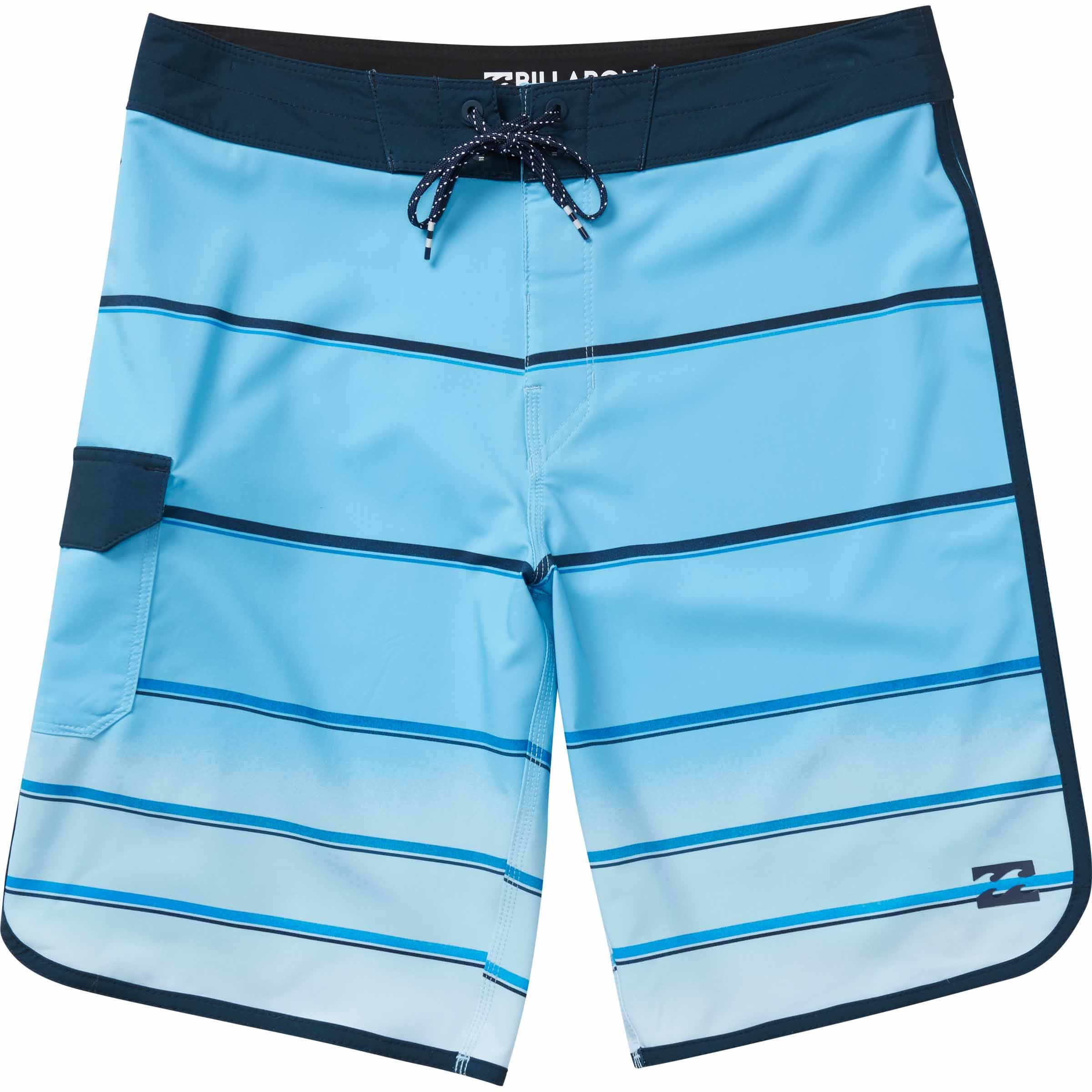 Billabong Men's 73 X Stripe Bordshort, Light Blue, 34