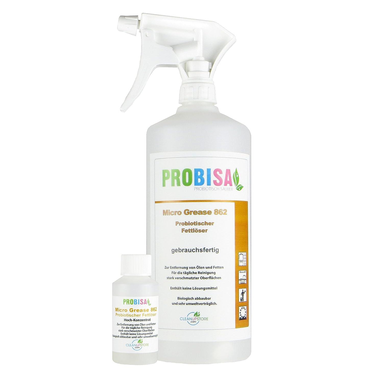 Bio Fettlöser Spray Probisa Micro Grease 862   Der Kraftreiniger Für Küche,  Haushalt Und Gastronomie (50ml Konzentrat Ergeben 1 2 Liter Entfetter): ...