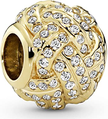 Amazon.com: Pandora Jewelry Sparkling Love Knot Cubic Zirconia ...
