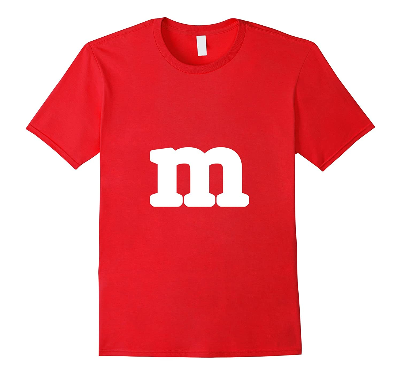 M Letter Halloween Costume T-shirt-T-Shirt