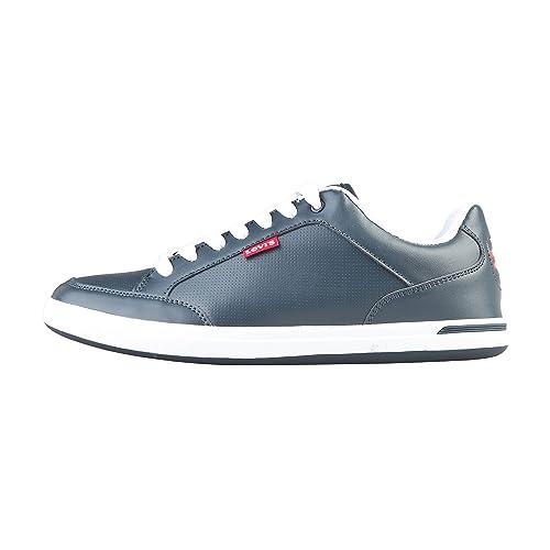 Levis - Zapatillas de Deporte Perforadas Cordones Caballero Hombre (47 EU/Azul Acero)