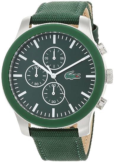 Lacoste Reloj Cronógrafo para Hombre de Cuarzo con Correa en Tela 2010946: Amazon.es: Relojes