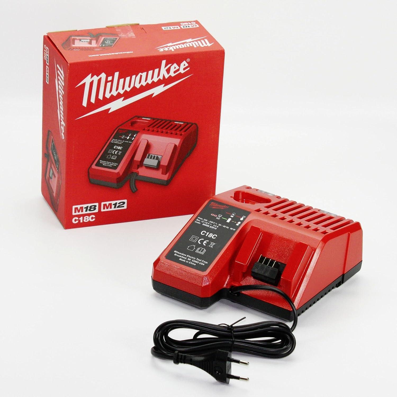 Amazon.com: Milwaukee c18 C M18, 220 – 240 V de entrada 18 V ...