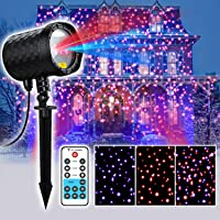 Coowoo Christmas Laser Solid Dots Projector