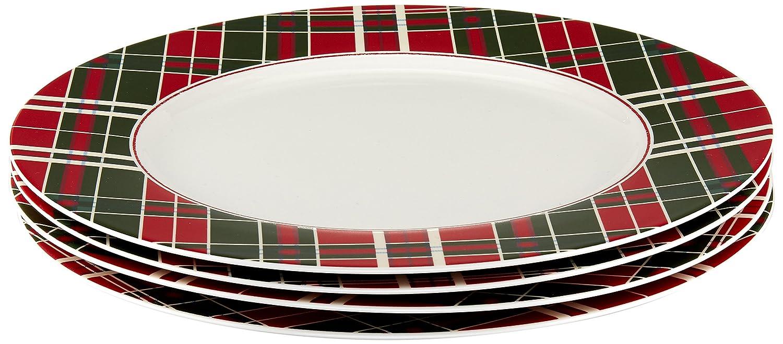 Amazon.com | Lenox Vintage Plaid Dinner Plates, Set of 4: Serving Bowls