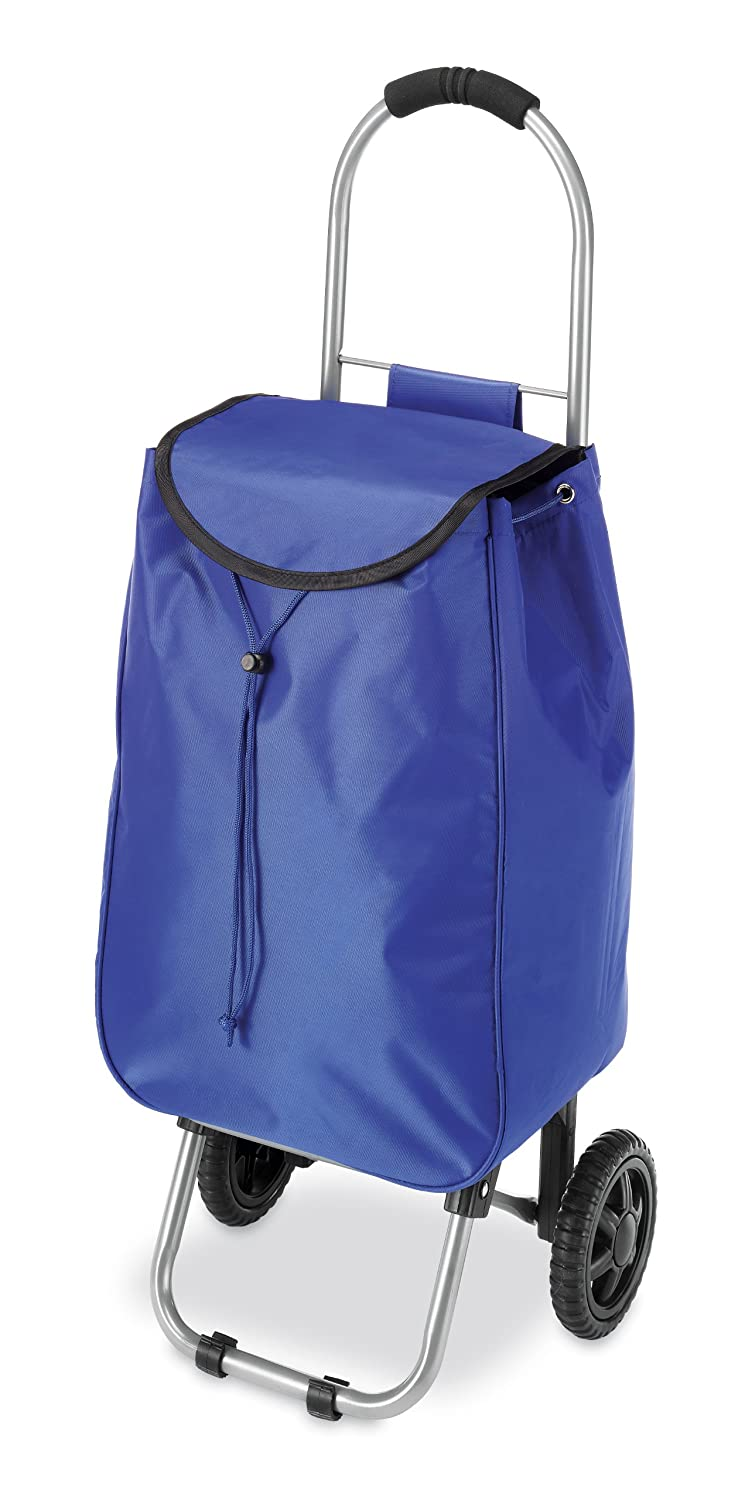 Whitmor Rolling Bag Cart Blue