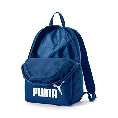 Puma Phase Mochila Poliéster Azul, Blanco - Mochila para portátiles y netbooks (Poliéster, Azul, Blanco, Monótono, 600 D, Unisex, Bolsillo Frontal, ...