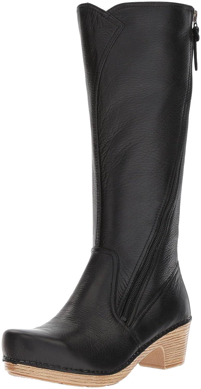 Dansko Women's Martha Boot B01N6LOWK2 39 EU/8.5-9 M US|Black Tumbled Pull Up