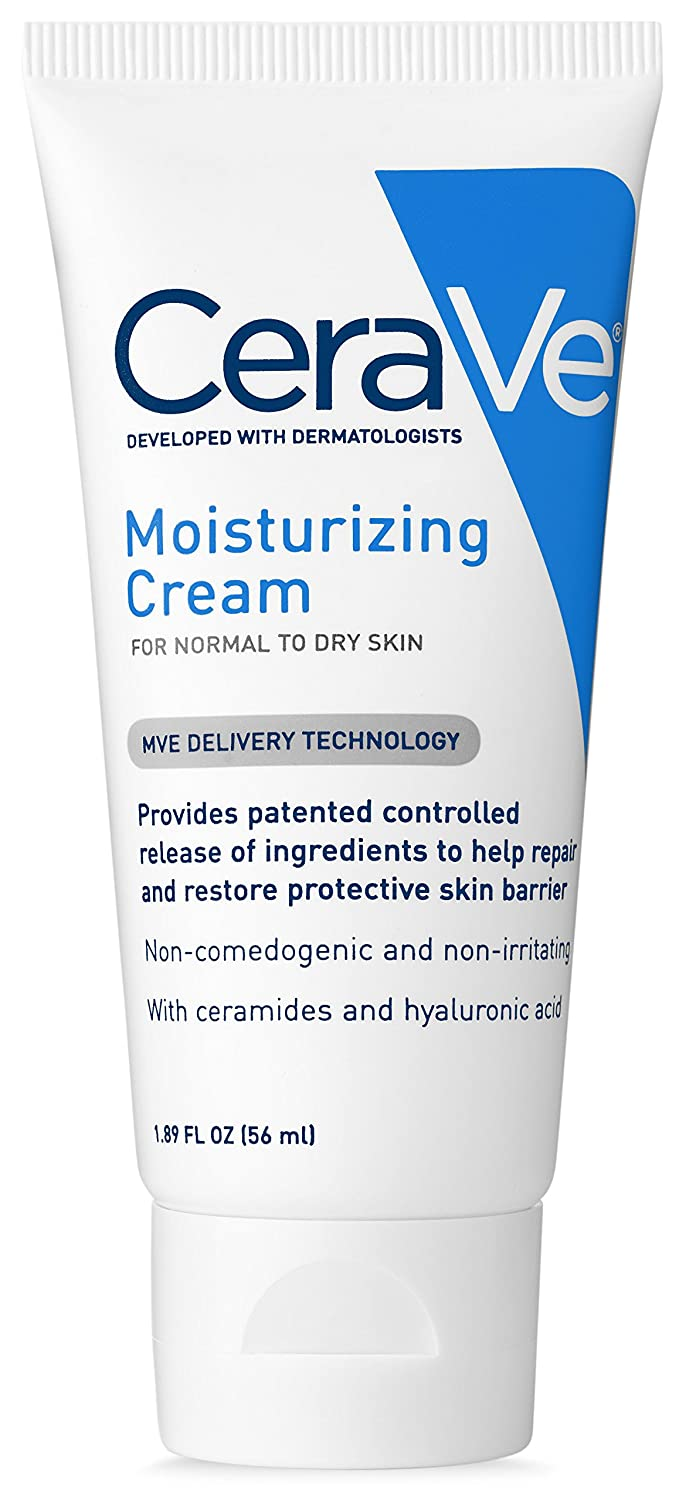 CeraVe Moisturizing Cream | 1.89 Ounce | Travel Size Face and Bod