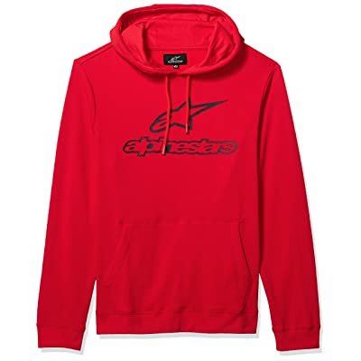 Alpinestars Men's Logo Fleece Pullover Hoodie Classic Fit: Clothing