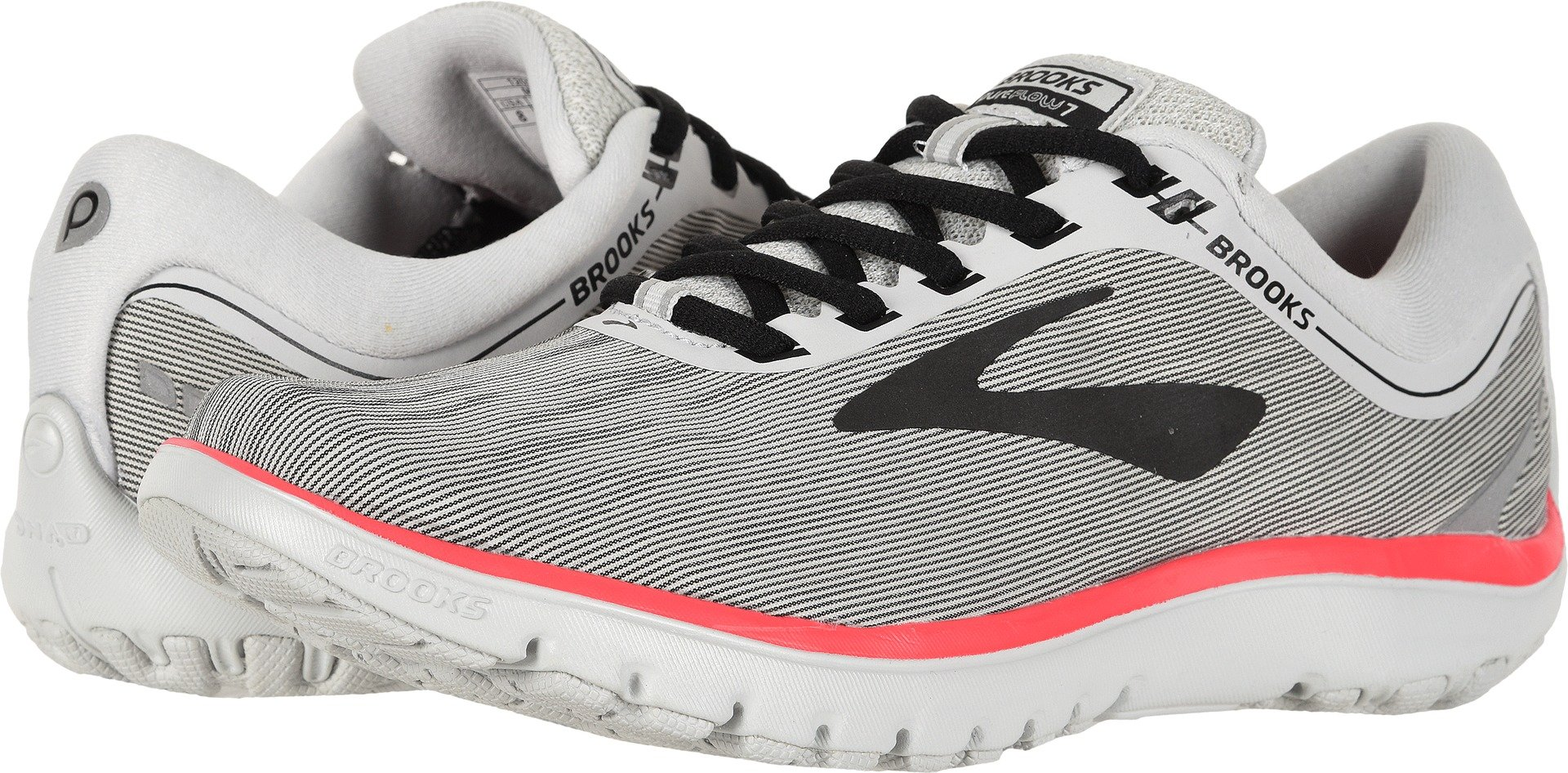 Brooks Women's PureFlow 7 Grey/Black/Pink 8.5 B US by Brooks (Image #1)