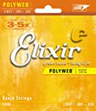 Elixir Strings Banjo Strings w POLYWEB Coating, Light (.009-.009)
