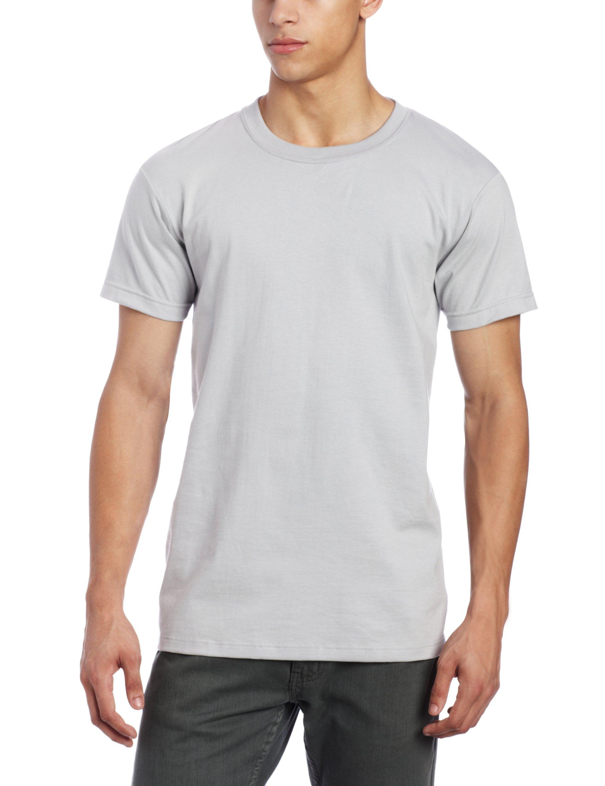 Naked & Famous Denim Men's T-Shirt, Grey Ringspun Cotton, Large