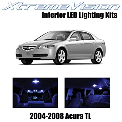 Xtremevision Interior LED for Acura TL 2004-2008 (14 Pieces) Blue Interior LED Kit + Installation Tool: Automotive