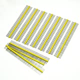 Gikfun 1 x 40 Pin 2.54mm Single Row Breakaway Male Pin Header for Arduino (Pack of 10pcs) EK1530