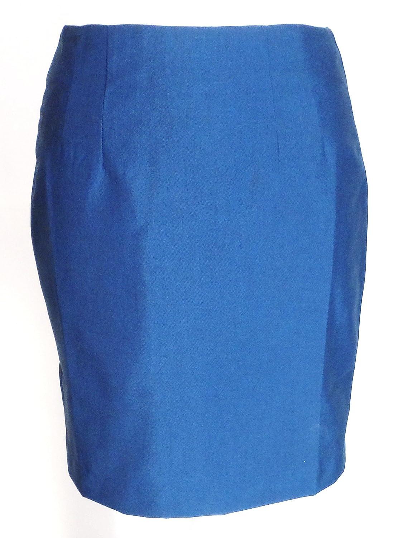 Relco Ladies Retro Mod Blue/Black Tonic Pencil Skirt