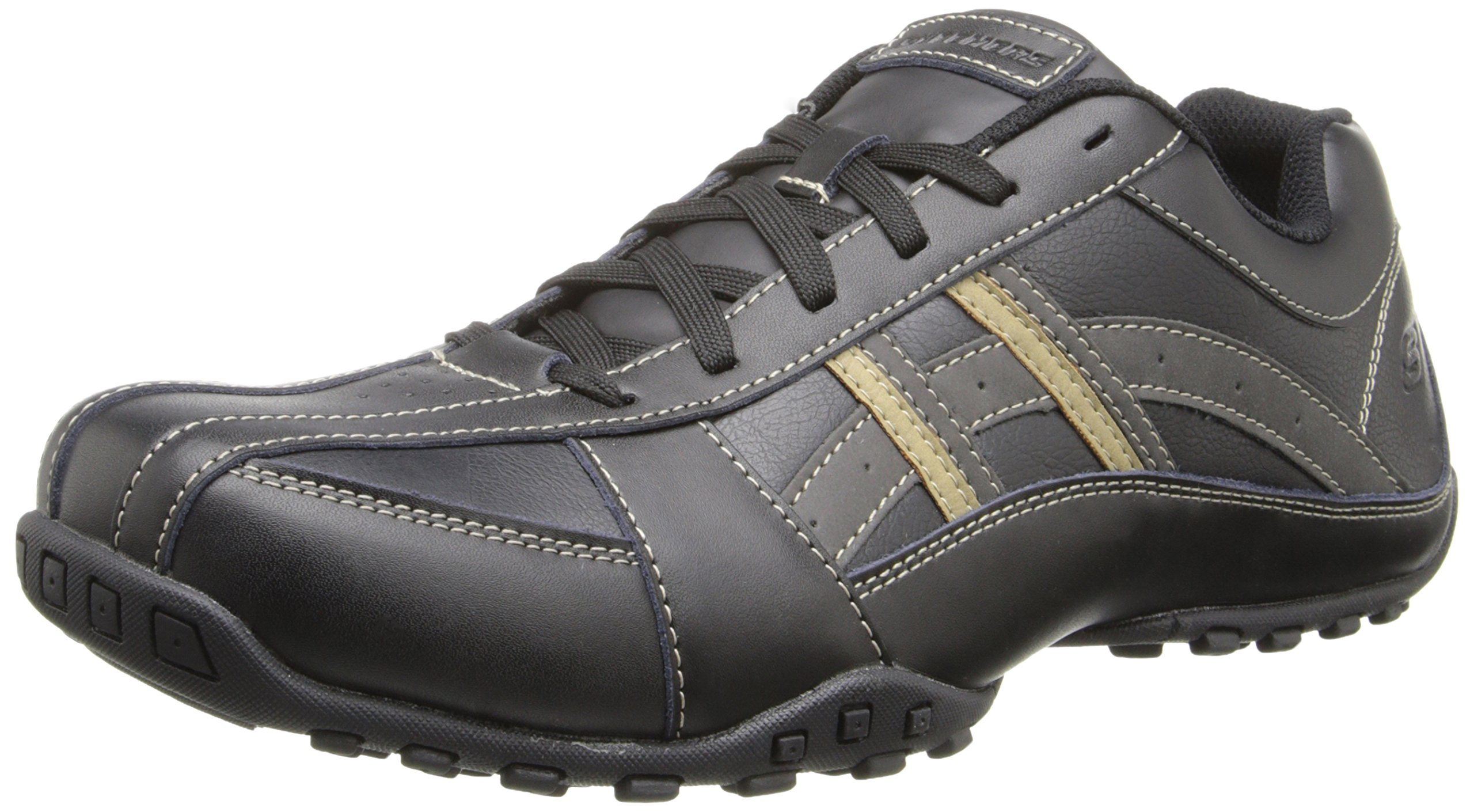 Skechers USA Men's Citywalk Malton Oxford Sneaker,Black,12 M US by Skechers