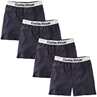 Charles Wilson Men's 4 Pack Loose Fit Boxer Shorts