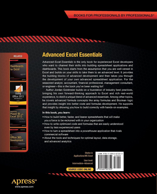 Advanced excel essentials amazon jordan goldmeier books fandeluxe Gallery