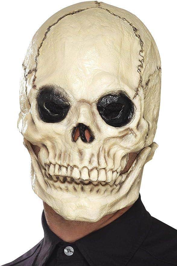 Crypt Skull Horror Skeleton OVerhead Latex Mask Halloween Costume Accessory