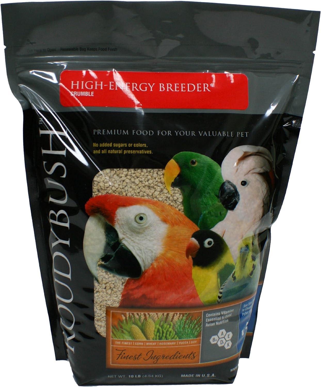 Roudybush Crumble High Energy Bird Food, 10-Pound