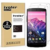 iVoler [2 Pack Pellicola Vetro Temperato LG Google Nexu 5 [Garanzia a Vita], Pellicola Protettiva, Protezione per Schermo
